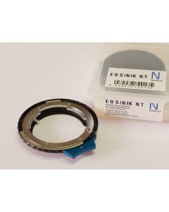 NOVOFLEX KameraAdapter: Canon EOS Kamerahus til Nikon G-Serie med integrert nedblendingskontroll