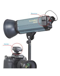 DC-604 Radio Trigger sender og mottaker KIT (batteri)