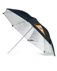 PHOTOFLEX Paraply / Blitz / Halogen / Sølv / Justerbar / Ø-76 cm [ADH30]